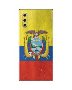 Ecuador Flag Distressed Galaxy Note 10 Skin