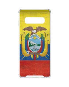 Ecuador Flag Distressed Galaxy S10 Clear Case