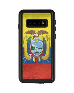 Ecuador Flag Distressed Galaxy S10 Waterproof Case