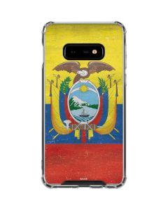 Ecuador Flag Distressed Galaxy S10e Clear Case