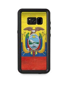 Ecuador Flag Distressed Galaxy S8 Plus Waterproof Case