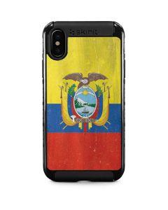 Ecuador Flag Distressed iPhone XS Cargo Case