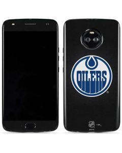 Edmonton Oilers Black Background Moto X4 Skin