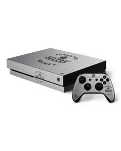 Edmonton Oilers Black Text Xbox One X Bundle Skin