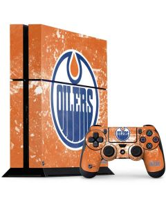 Edmonton Oilers Frozen PS4 Console and Controller Bundle Skin