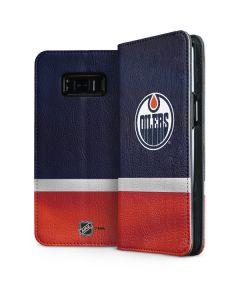 Edmonton Oilers Jersey Galaxy S8 Folio Case