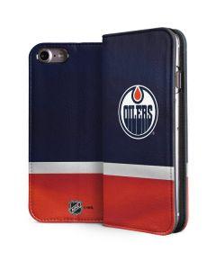 Edmonton Oilers Jersey iPhone 8 Folio Case