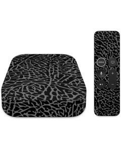 Elephant Print Black Apple TV Skin