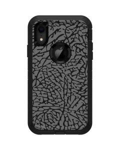 Elephant Print Grey Otterbox Defender iPhone Skin