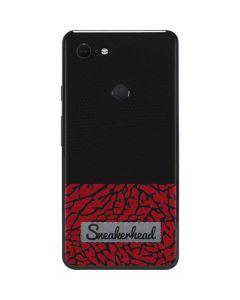 Elephant Print Red Sneakerhead Google Pixel 3 XL Skin