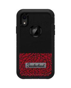 Elephant Print Red Sneakerhead Otterbox Defender iPhone Skin