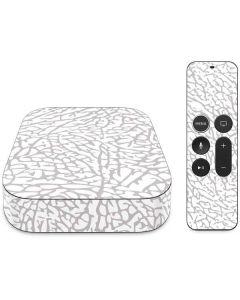 Elephant Print White Apple TV Skin