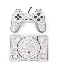 Elephant Print White PlayStation Classic Bundle Skin