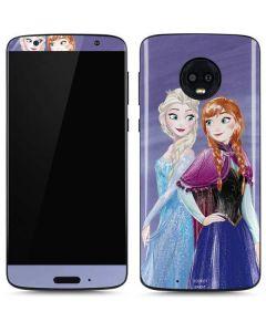Elsa and Anna Sisters Moto G6 Skin
