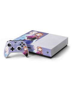 Elsa and Anna Sisters Xbox One S Console and Controller Bundle Skin