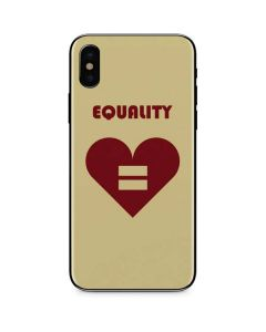 Equality Heart iPhone X Skin
