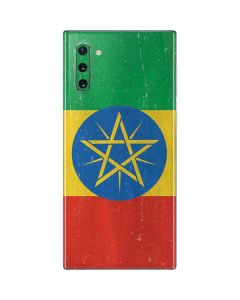 Ethiopia Flag Distressed Galaxy Note 10 Skin