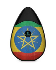 Ethiopia Flag Distressed Suorin Drop Vape Skin