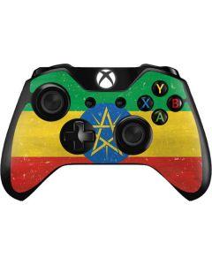 Ethiopia Flag Distressed Xbox One Controller Skin