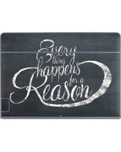 Everything Happens For A Reason Chalk Galaxy Book Keyboard Folio 12in Skin