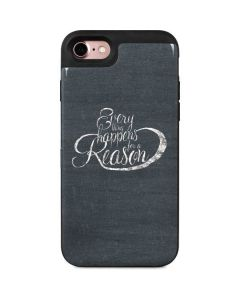 Everything Happens For A Reason Chalk iPhone 8 Wallet Case