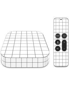 White Grid Apple TV Skin