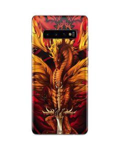 Fire Dragon Galaxy S10 Plus Skin