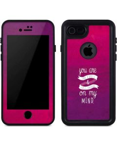 First And Last Thing On My Mind Pink iPhone 8 Waterproof Case