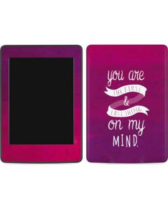 First And Last Thing On My Mind Pink Amazon Kindle Skin