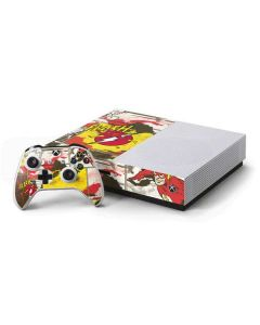 Flash Block Pattern Xbox One S Console and Controller Bundle Skin