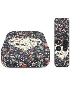 Floral Heart Apple TV Skin