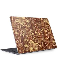 Floral Wood Mahogany Surface Laptop 2 Skin