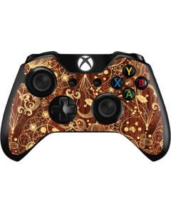 Floral Wood Mahogany Xbox One Controller Skin