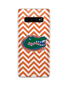 Florida Gators Chevron Print Galaxy S10 Plus Skin