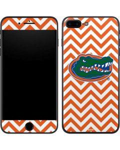 Florida Gators Chevron Print iPhone 8 Plus Skin