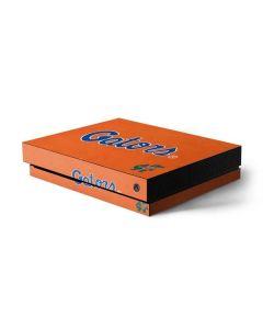 Florida Gators Orange Xbox One X Console Skin