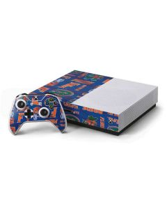 Florida Gators Pattern Xbox One S Console and Controller Bundle Skin