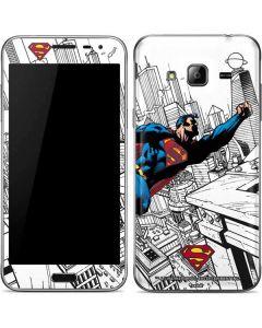 Flying Superman Galaxy J3 Skin