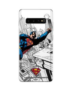 Flying Superman Galaxy S10 Plus Skin