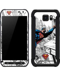 Flying Superman Galaxy S6 Active Skin