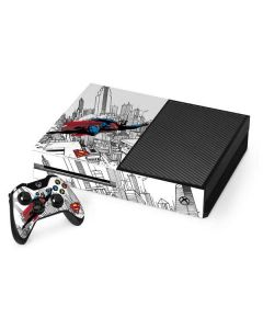 Flying Superman Xbox One Console and Controller Bundle Skin