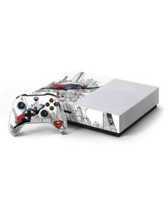 Flying Superman Xbox One S Console and Controller Bundle Skin