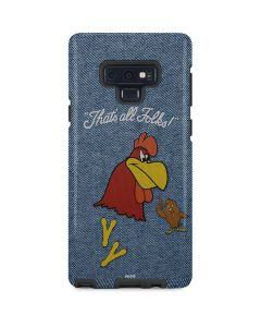 Foghorn Leghorn Thats All Folks Galaxy Note 9 Pro Case