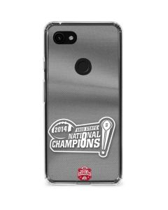 Football Champions Ohio State 2014 Google Pixel 3a XL Clear Case