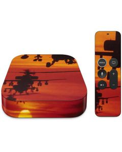Four AH-64 Apache Helicopters Apple TV Skin
