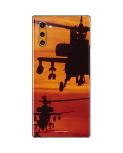 Four AH-64 Apache Helicopters Galaxy Note 10 Skin