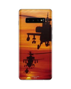 Four AH-64 Apache Helicopters Galaxy S10 Plus Skin