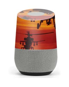 Four AH-64 Apache Helicopters Google Home Skin
