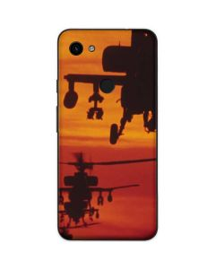 Four AH-64 Apache Helicopters Google Pixel 3a Skin