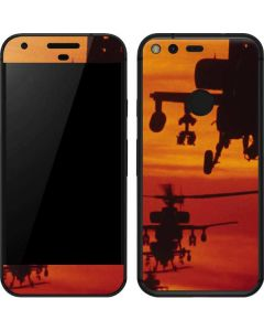 Four AH-64 Apache Helicopters Google Pixel Skin